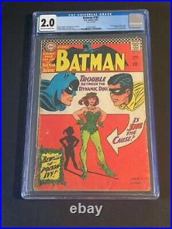 1966 Batman #181 CGC 2.0 1st Appearance Poison Ivy Cream to Off White Pages