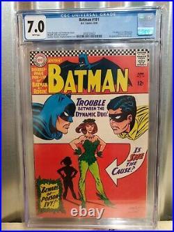 1966 Batman #181 CGC 7.0 WHITE Pages 1st Appearance of Poison Ivy DC Comics