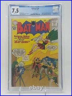 BATMAN #139 (1961) CGC 7.5 White Pages! RARE 1ST APP THE ORIGINAL BATGIRL KEY