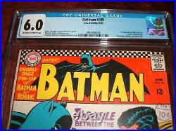 BATMAN 181 CGC 6.0 OWithWHITE PAGES 1ST APPEARANCE POISON IVY KEY ISSUE