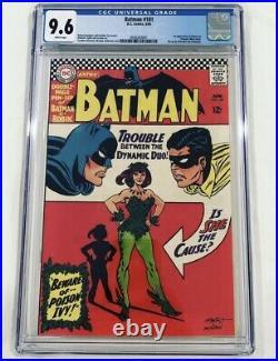 BATMAN #181 CGC 9.6 White Pages Poison Ivy 1st Appearance 1966 DC Comics