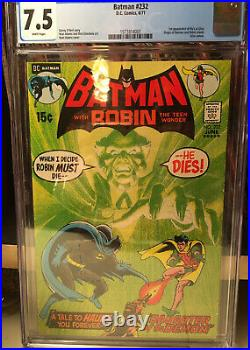 BATMAN 232 CGC 7.5 1st APP of RA'S AL GHUL ORIGIN ROBIN Neal Adams WHITE PAGES