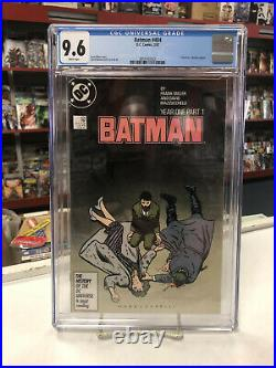 BATMAN #404 (DC Comics, 1987) CGC Graded 9.6! YEAR ONE White Pages