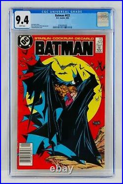BATMAN #423 CGC 9.4 White Pages Newsstand TODD MCFARLANE COVER NM New Slab Grail