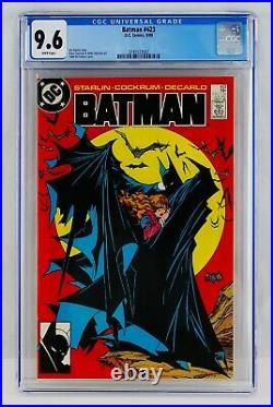 BATMAN #423 CGC 9.6 White Pages TODD MCFARLANE COVER First 1st Print Printing NM