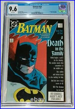BATMAN 426 A Death in the Family part 1 9.6 CGC White Pages Near Mint +