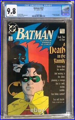 BATMAN #427 DC Comics CGC 9.8 Robin Joker White Pages Key