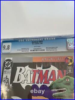 BATMAN #497 CGC 9.8 White pages Bane Breaks Batman's Back