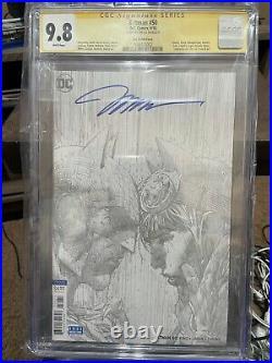 BATMAN #50 CGC 9.8 Signed By Jim Lee (Black&White Sketch 1100 The Wedding)