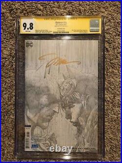 BATMAN #50 SS CGC 9.8 Signed Jim Lee (Black&White Sketch 1100 The Wedding)