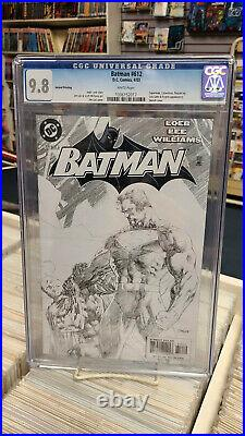 BATMAN #612 2nd Print Sketch Variant (2003) CGC Graded 9.8 HUSH White Pages