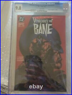 BATMAN VENGEANCE OF BANE 1 CGC 9.8 WHITE PAGES! 1ST APP first Appearance