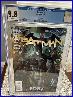 Batman #1 (CGC 9.8) White pgs New 52 Van Sciver variant cover DC 2011
