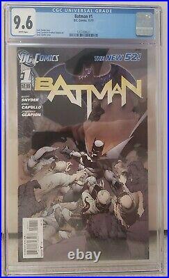 Batman#1 New 52 CGC Graded 9.6 White Pages DC Comic 2011