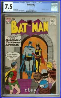 Batman #122 Cgc 7.5 White Pages