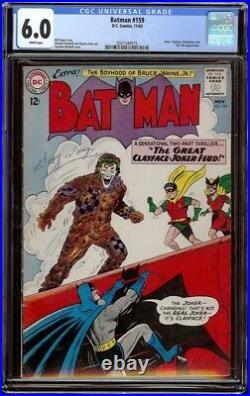 Batman # 159 CGC 6.0 White (DC, 1963) Classic Joker cover