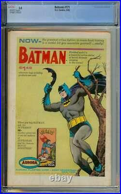 Batman #171 Cgc 2.0 White Pages // 1st Silver Age Appearance Of The Riddler 1965