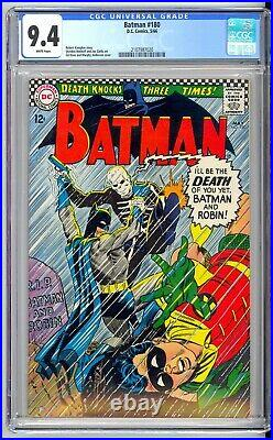Batman #180 Cgc 9.4 Nm Bright White Pages! Awesome Cover! Nice Hi Grade Copy