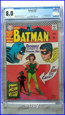 Batman #181 CGC 8.0 VF 1st Appearance of Poison Ivy WHITE Pages