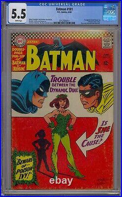 Batman #181 Cgc 5.5 1st Poison Ivy White Pages