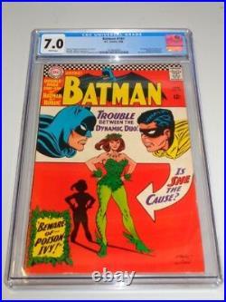 Batman #181 Cgc 7.0 DC Comics White Pages 1st App Poison Ivy June 1966 (sa)
