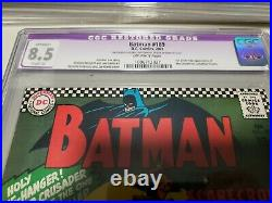 Batman 189 1st app Scarecrow CGC 8.5 Restored Off-White Pages SA Key