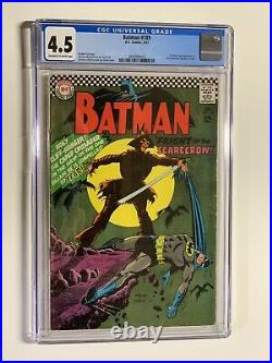 Batman 189 CGC 4.5 off-white to white pages DC comics 1967