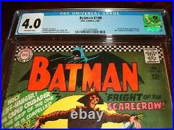 Batman 189 Cgc 4.0 Off White Pages 1st Silver Age Appearance Of The Scarecrow