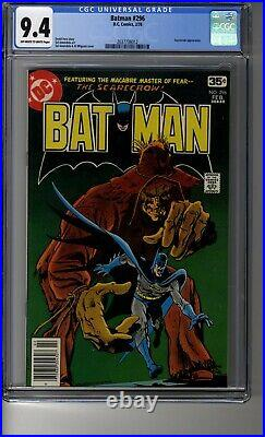 Batman (1940) # 296 CGC 9.4 OWithWhite Pages Al Milgrom Scarecrow Cover