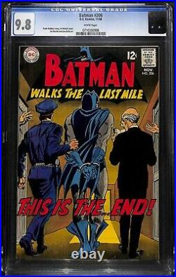 Batman #206 Cgc 9.8 Highest Graded White Pages The End Cgc #0710332006