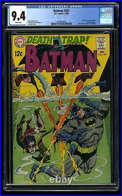 Batman #207 CGC NM 9.4 White Pages