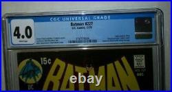 Batman #227 (CGC 4.0 White) Classic Neal Adams Cover, Bronze Age Key