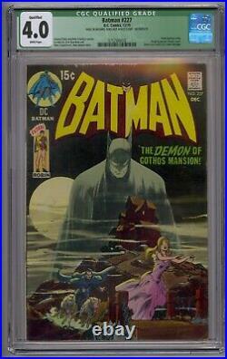 Batman #227 Cgc 4.0 Detective Comics #31 Homage White Pages