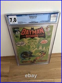 Batman 232 CGC 7.0 White Pages DC Neal Adams Cover Key 1st Ras Al Ghul