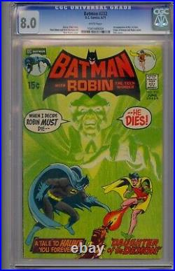 Batman #232 Cgc 8.0 1st Ra's Al Ghul Talia App Never Pressed/cleaned White Pgs
