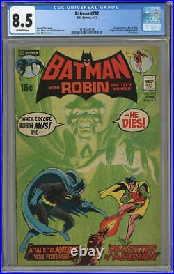 Batman #232 Cgc 8.5 Off-white Pages 1st Ra's Al Ghul! 1971