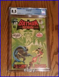 Batman #232 cgc 8.5 DC comics Key 1st RAS AL GHUL white pages