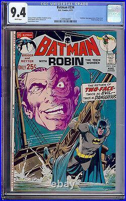 Batman #234 CGC 9.4 DC 1971 1st Two-Face! Neal Adams! WHITE Pages! JLA F8 125 cm
