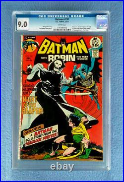 Batman #237 Cgc 9.0 Vf/nm White Pages DC Comics 1971 Batman With Robin