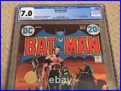 Batman 244 CGC 7.0 OWithWhite Pages (Ras Al Ghul Cover by Neal Adams!) + magnet