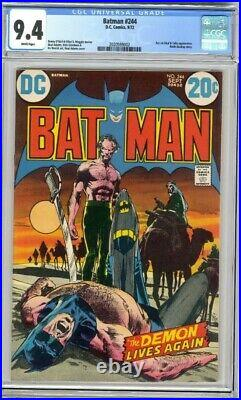 Batman #244 CGC 9.4 Neal Adams Cover and Art White Pages