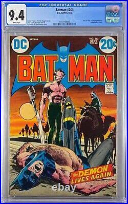 Batman 244 CGC 9.4 Ra's Al Ghul & Talia, WHITE PAGES! Neal Adams