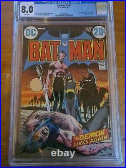 Batman #244 cgc 8.0 classic batman neil Adams cover white pages