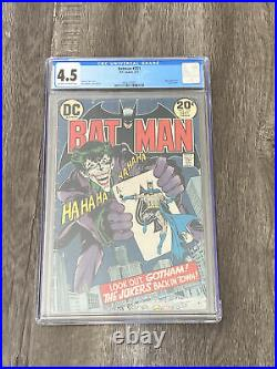 Batman #251 CGC 4.5 1973 3842233001 Classic Joker Cover Off-White To White Pages