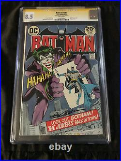 Batman #251 CGC 8.5 WHITE Pages 1973 Classic Neal Adams Cover SIGNED Neal Adams