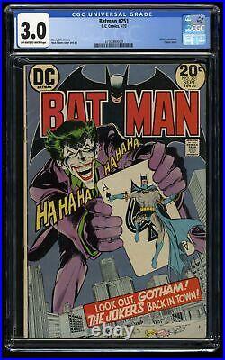 Batman #251 CGC GD/VG 3.0 Off White to White Classic Neal Adams Joker Cover