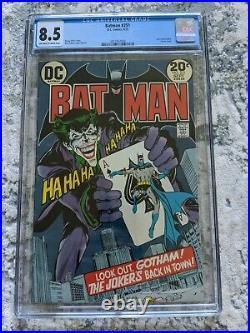 Batman 251 Cgc 8.5 White Pages (dc 1973) Neal Adams Joker Cover