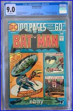 Batman #258 (1974) CGC 9.0 - White pages 1st mention of Arkham Two-Face cover