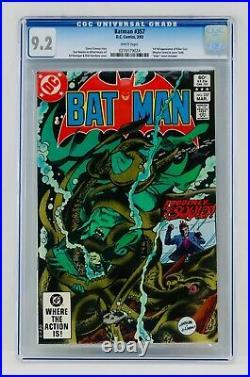 Batman #357 CGC 9.2 White Pages First Killer Croc Appearance 1st App NM- Key