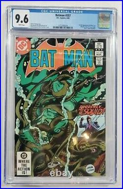 Batman #357 (DC 1983) CGC 9.6 with white pages 1st app Killer Croc & Jason Todd